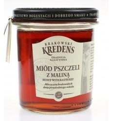 Miód pszczeli z maliną Krakowski Kredens 370g