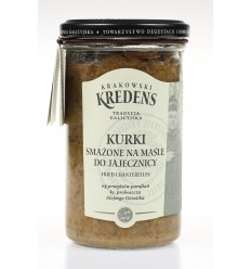 Grzyby kurki smażone na maśle do jajecznicy Krakowski Kredens
