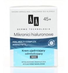 Krem na noc Mikronici hialuronowe 45+ AA 50ml