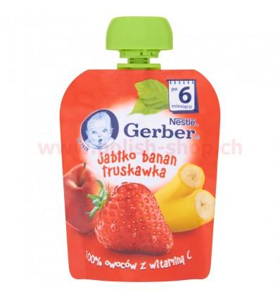 Mus Pouch jabłko-banan-truskawka Gerber 90g