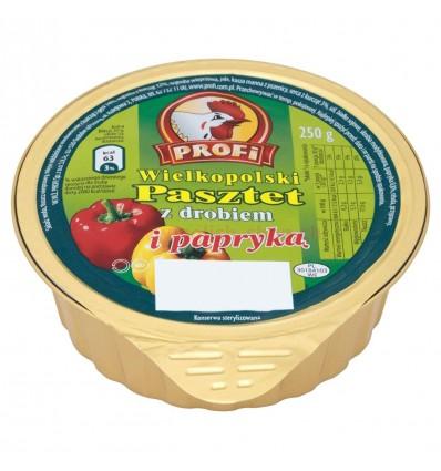 Pâté à la volaille et au poivron Wielkopolski Profi 131g