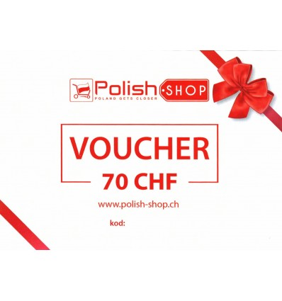 Voucher/bon Polish Shop - 70 CHF