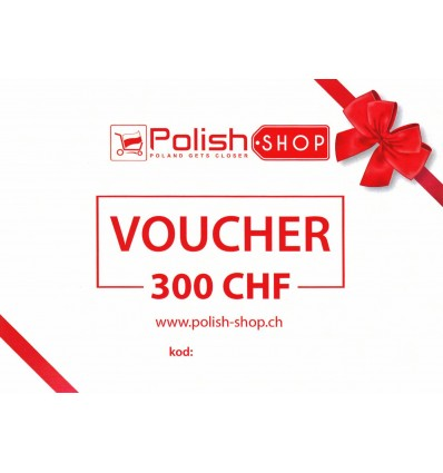 Voucher/bon Polish Shop - 300 CHF