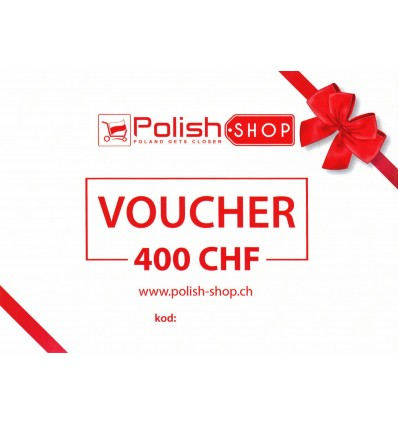 Voucher/bon Polish Shop - 400 CHF
