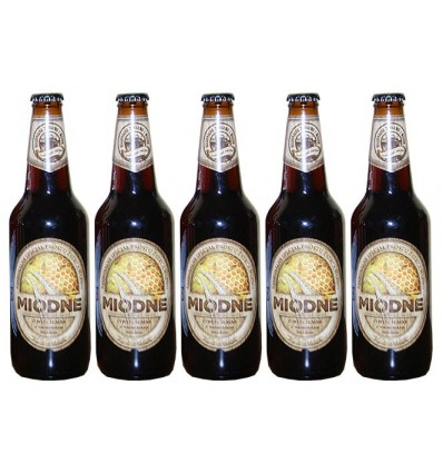 5x Miodne beer (Kormoran Brewery) bottle 500ml