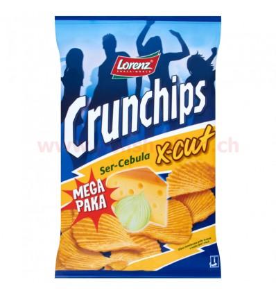 Chipsy Ser-Cebula Crunchips X-Cut 225g