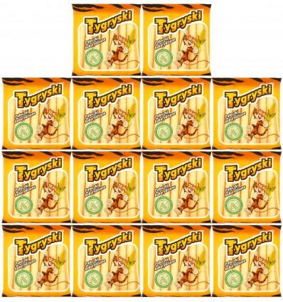 14x Chrupki pałeczki kukurydziane Tygryski 60g