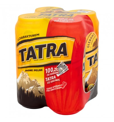 4x Tatra lager beer can 500ml