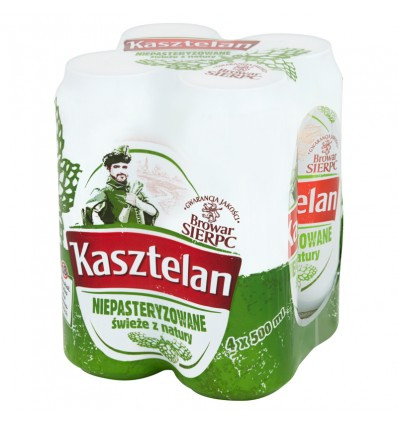 4x Kasztelan beer can 500ml