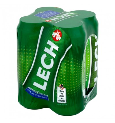 4x Bière Lech Premium en boîte 500ml
