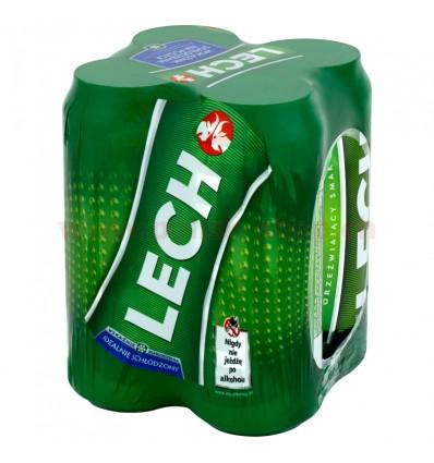 4x Lech Premium Bier Dose 500ml