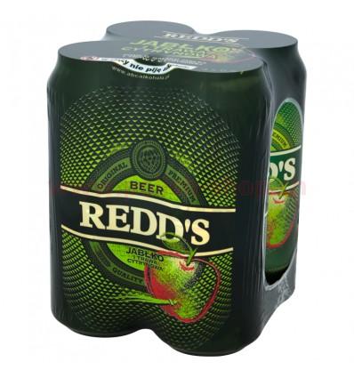 4x Piwo Redd's o smaku jabłka i trawy cytrynowej puszka 500ml