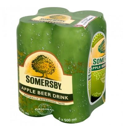 4x Bière Somersby Apple en boîte 500ml