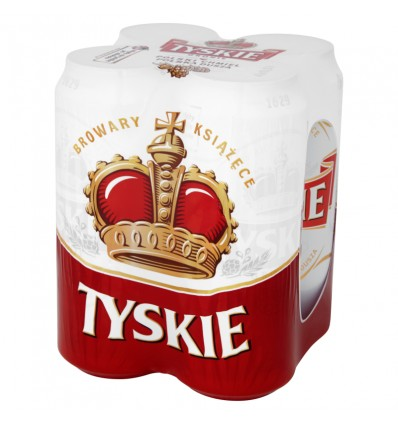 4x Tyskie Gronie beer can 500ml
