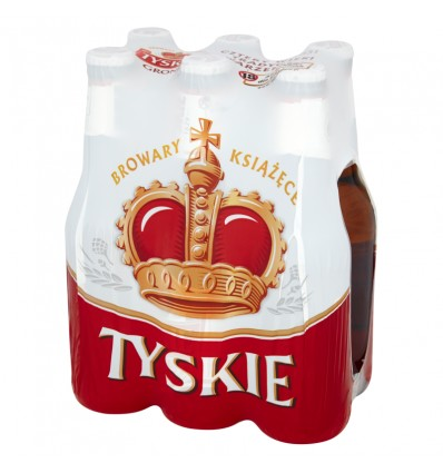 6x Tyskie Gronie Bier Flasche 330ml