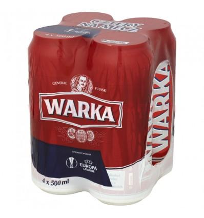4x Warka Bier Dose 500ml