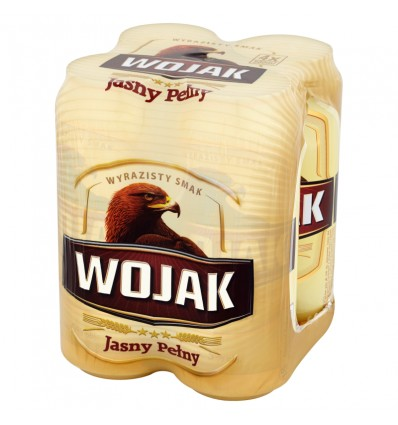 4x Wojak lager beer can 500ml