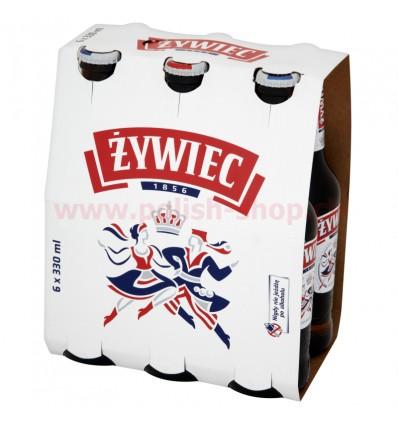 6x Zywiec beer bottle 330ml