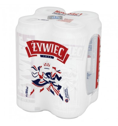 4x Zywiec beer can 500ml