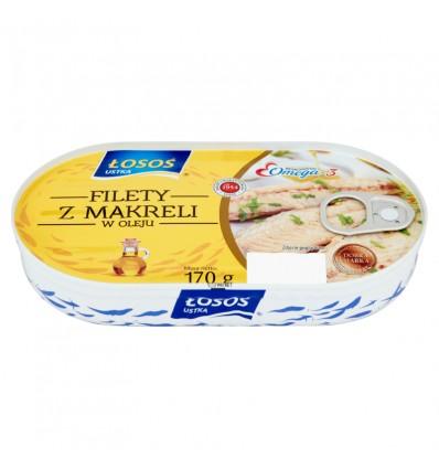 Ryba Filet z makreli w oleju Łosoś 170g