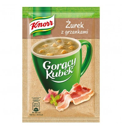 10x Soupe instantanée aux croûtons Goracy Kubek Knorr 17g