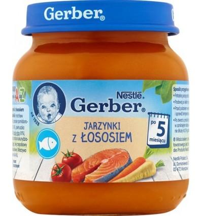 Légumes et saumon Repas pour bébé de 5 mois Gerber 125g