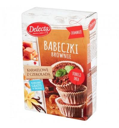 Ciasto Babeczki Brownie karmelowe z czekoladą Delecta 360g