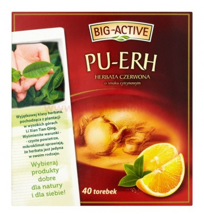 Thé rouge au citron PU-ERH Big-Active 40 sachets