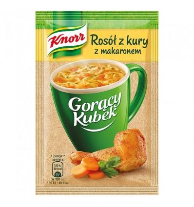 Gorący Kubek Rosół z kury z makaronem Knorr 12g