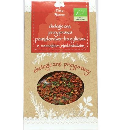 Przyprawa pomidorowo-bazyliowa z czosnkiem niedźwiedzim Dary Natury 40g