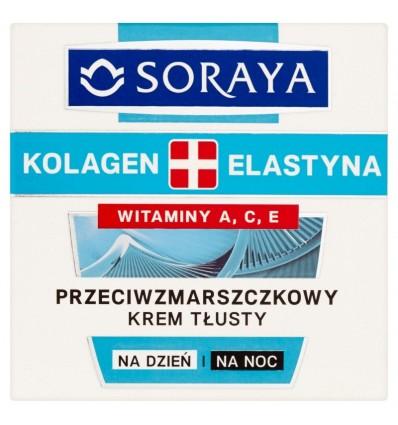 Krem na dzień i na noc kolagen, elastyna Soraya 50ml