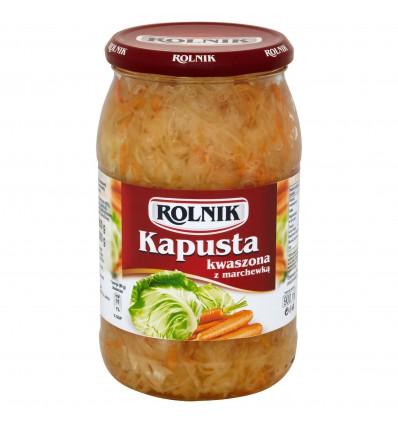 Kapusta kwaszona z marchewką Rolnik 850g