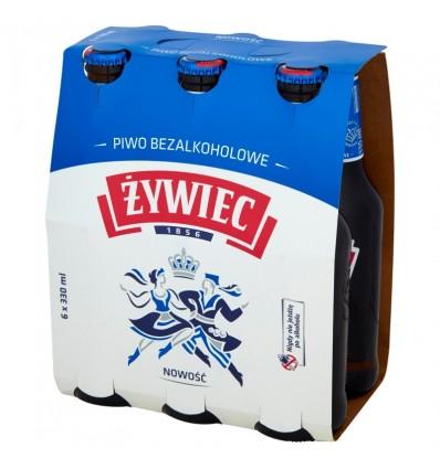 6x Piwo Żywiec bezalkoholowe butelka 330ml