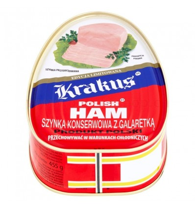Canned ham with jelly Krakus 455g