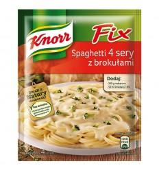Fix Spaghetti 4 sery z brokułami Knorr