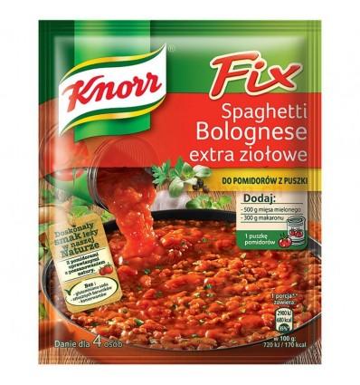 Przyprawa Fix Spaghetti Bolognese extra ziołowe Knorr