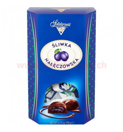 Pruneaux enrobées de chocolat Solidarnosc 190g