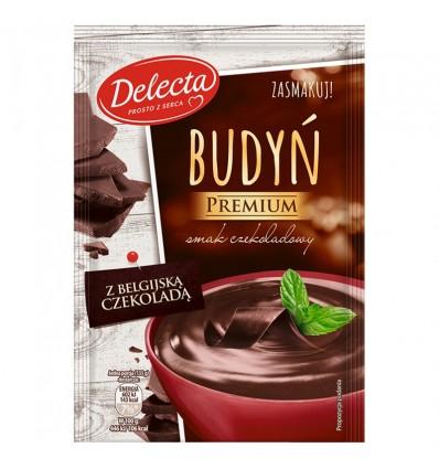 4x Budyń czekoladowy z belgijską czekoladą Premium Delecta 47g