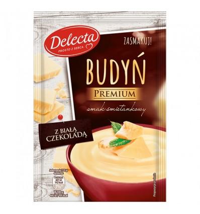 4x Pouding Crème Chocolat blanc Premium Delecta 47g