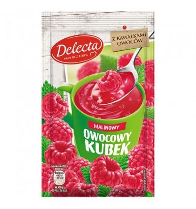 Owocowy kubek raspberry kissel Delecta 30g