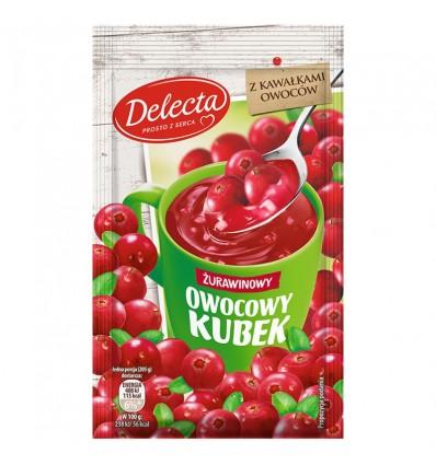 Owocowy kubek cranberry kissel Delecta 30g