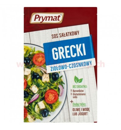 Greek herbs and garlic salad dressing Prymat 9g