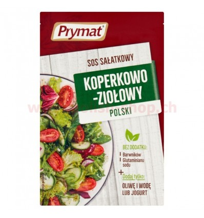 Polish dill and herbs salad dressing Prymat 9g