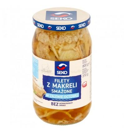 Fried mackerel fillets in vinegar Seko 800/310g
