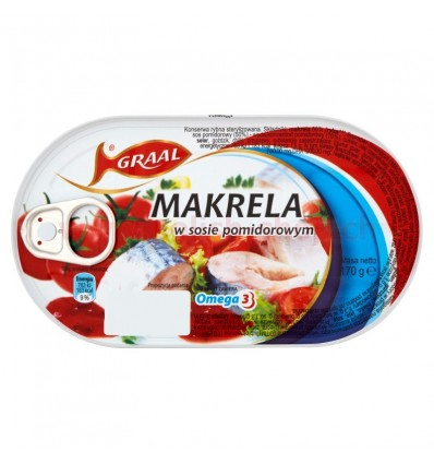 Ryba Makrela w sosie pomidorowym Graal 170g