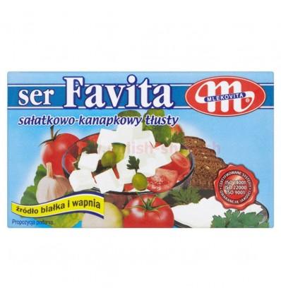 High-fat cheese for salads and sanwiches Favita Mlekovita 270g