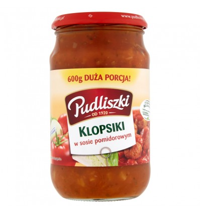Danie Klopsiki w sosie pomidorowym Pudliszki 600g