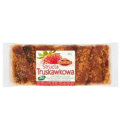 Ciasto Strucla truskawkowa Oskroba 450g