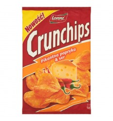 Chipsy Pikantna papryka & ser Crunchips 150g