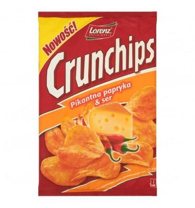 Hot paprika & cheese crisps Crunchips 150g